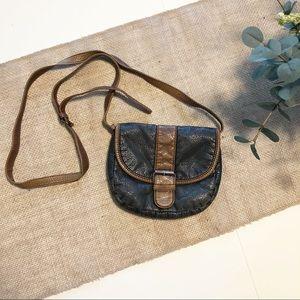 Black Poppy   Small Crossbody Bag